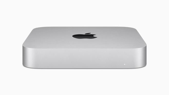 Mac mini mit M1-Prozessor vor weißem Hintergrund.©Apple