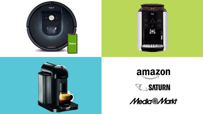 Amazon, Media Markt, Saturn: Top-Deals des Tages!©Amazon, Media Markt, Saturn, iRobot, Krups