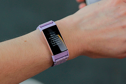 Charge 3 lavender woven/rose-gold aluminium