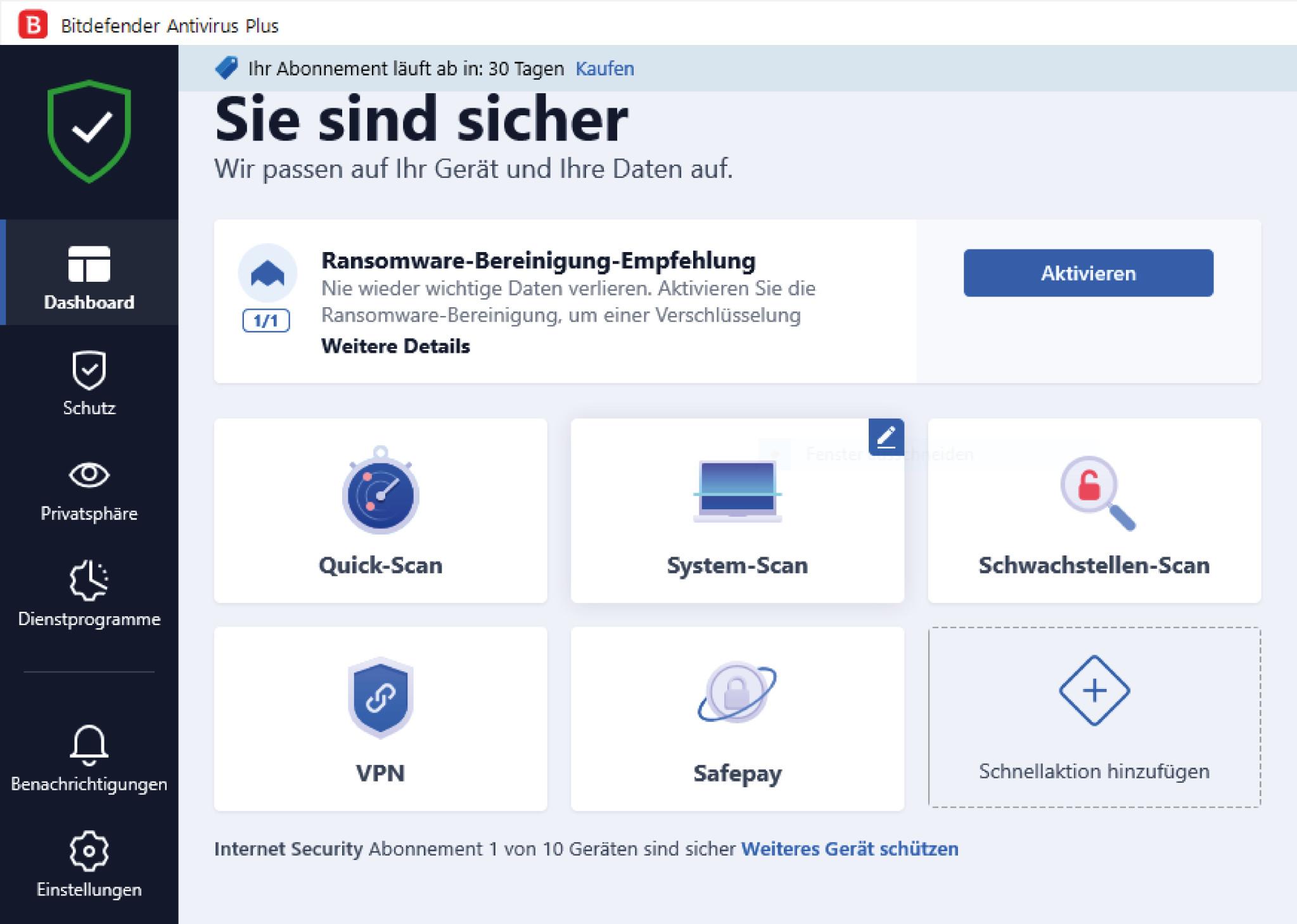 Screenshot 1 - Bitdefender Antivirus Plus 2022