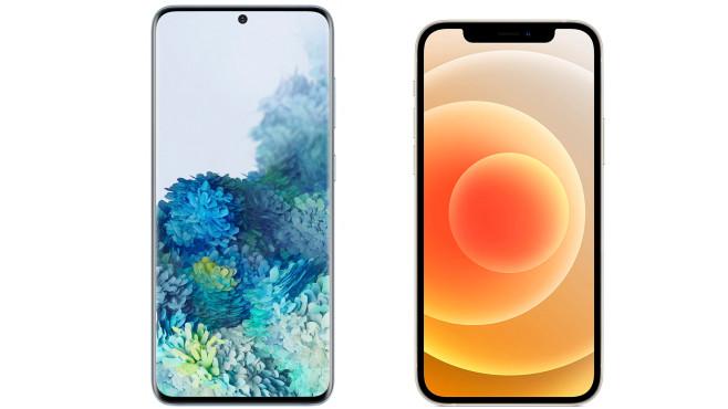 Apple iPhone 12 vs. Samsungs Galaxy S20©Apple / Samsung / Montage: COMPUTER BILD