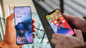 Apple iPhone 12 vs. Samsungs Galaxy S20©COMPUTER BILD