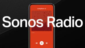 Sonos Radio HD, Handy mit App und Logo©Sonos
