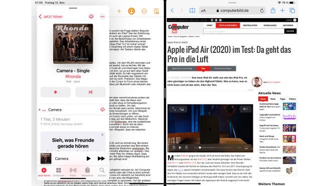 Screenshot aus iPadOS©COMPUTER BILD