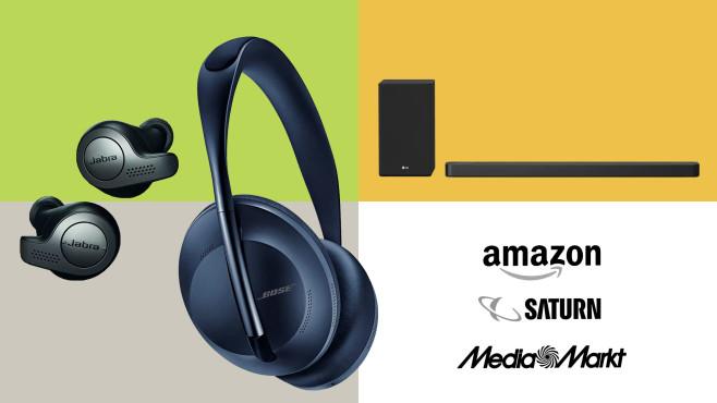 Amazon, Media Markt, Saturn: Top-Deals des Tages!©Saturn, Media Markt, Amazon, Bose, Jabra, LG