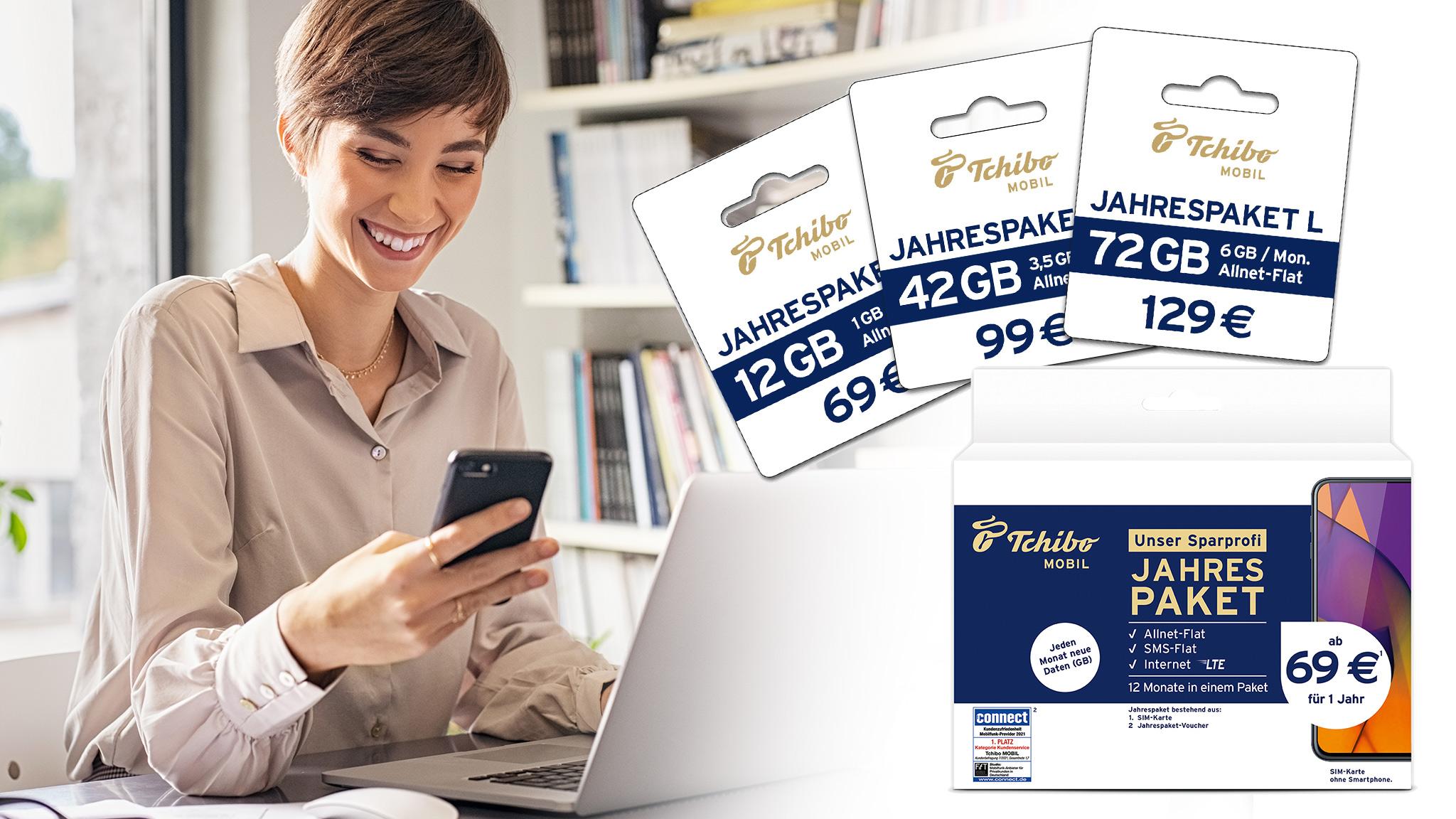 Tchibo-Mobil-Jahrespakete: Das bieten die neuen Tarife – lohnen sie sich?