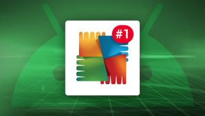 AVG-Logo mit Nummer-1-Symbol © Android, iStock.com/blackdovfx