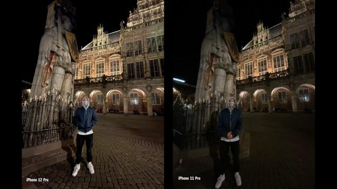 iPhone 12 Pro vs. iPhone 11 Pro: Nachtsicht mit Ultraweitwinkel©COMPUTER BILD
