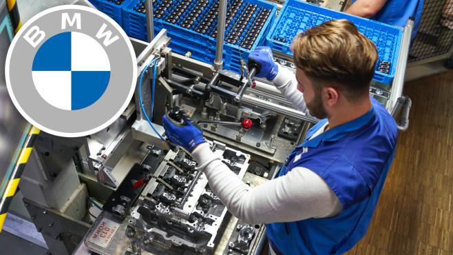 Vormontage Zylinderkopf im Motorenbau©BMW