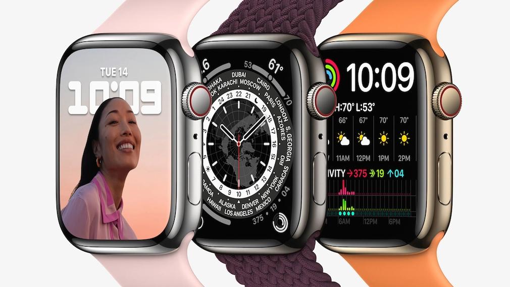 Apple Watch 7: Apple präsentiert neue Uhr mit größerem Display So sieht die Apple Watch 7 im Edelstahlgehäuse aus.