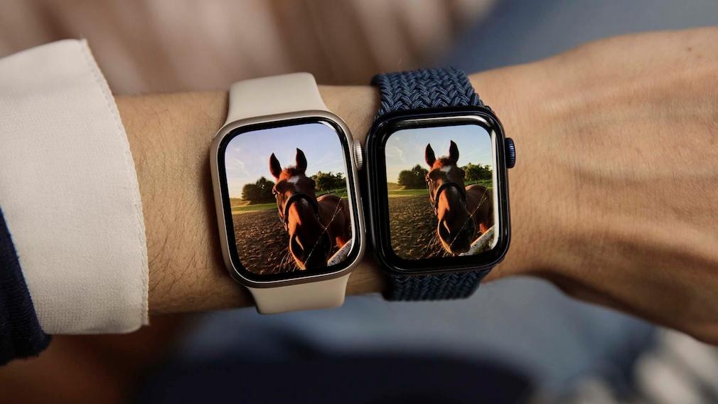 Apple Watch 7 vs. 6 Foto