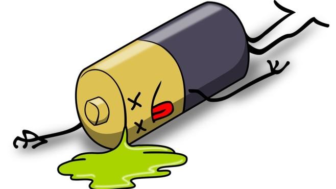 Illustration einer defekten Batterie©pixabay