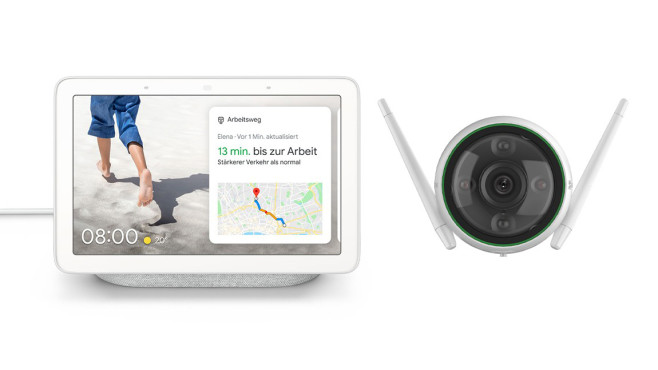 Außenkamera Ezviz C3N und dem Google Nest Hub  bei Tink©Tink