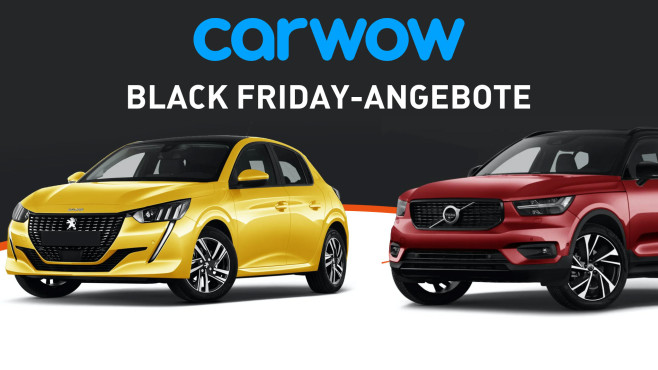 Black Friday-Angebote © Carwow, Peugeot, Volvo