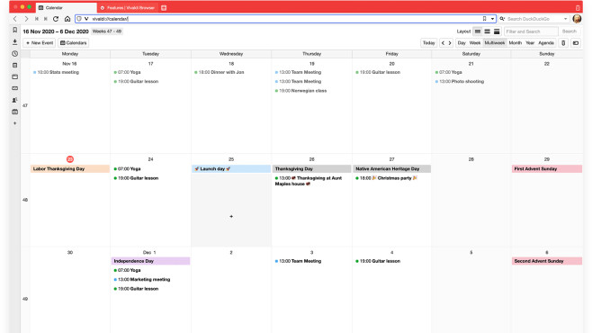Vivaldi Calendar©Vivaldi
