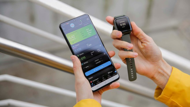 Garmin Venu SQ mit Galaxy S20 Ultra 5G mit Connect-App©COMPUTER BILD