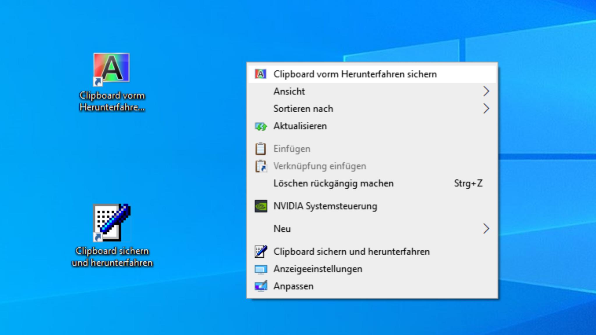 Screenshot 1 - Windows Clipboard Backup