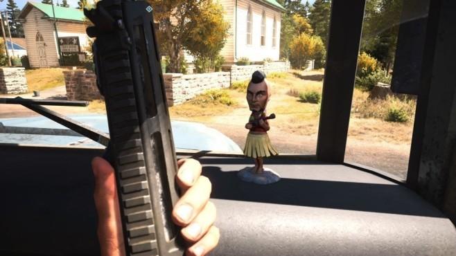 """Easter Eggs in Spielen: Die besten versteckten Gags Vaas aus """"Far Cry 3"""" gibt es als lustigen Bobble-Head in """"Far Cry 5"""" zu finden.©Ubisoft"""