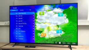 Medion X16596: 65-Zoll-TV von Aldi im Praxis-Test Medion X16596 (MD 32196) im Test: Beim 65-Zoll-Riesen aus dem Aldi-Angebot gefiel nicht nur das farbstarke Bild, sondern auch Annehmlichkeiten wie gut sortierte Senderlisten.©COMPUTER BILD
