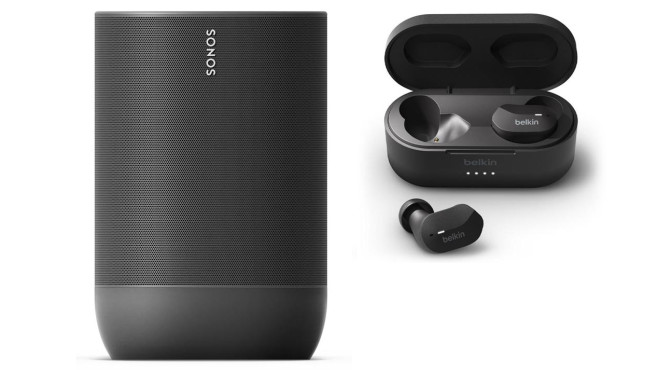Sonos Move + die Belkin Soundform True Wireless Earbuds bei Tink © Tink