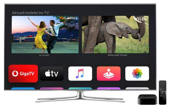 GigaTV Net auf Apple TV©Vodafone