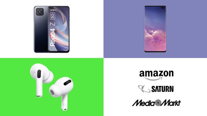 Amazon, Media Markt, Saturn: Top-Deals des Tages!©Saturn, Media Markt, Amazon, Oppo, Samsung, Apple