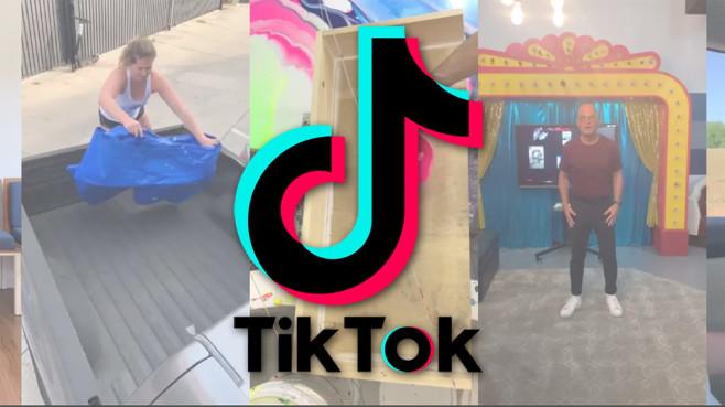 TikTok-Logo und Narco-Marketing-Clips©TikTok