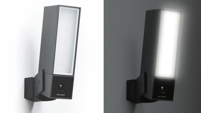 Netatmo Smarte Außenkamera mit Alarmsirene, bei Tag und bei Nacht©Netatmo