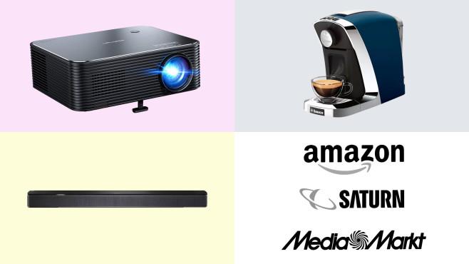 Amazon, Media Markt, Saturn: Top-Deals des Tages!©Amazon, Saturn, Media Markt, APEMAN, Saeco, Bose