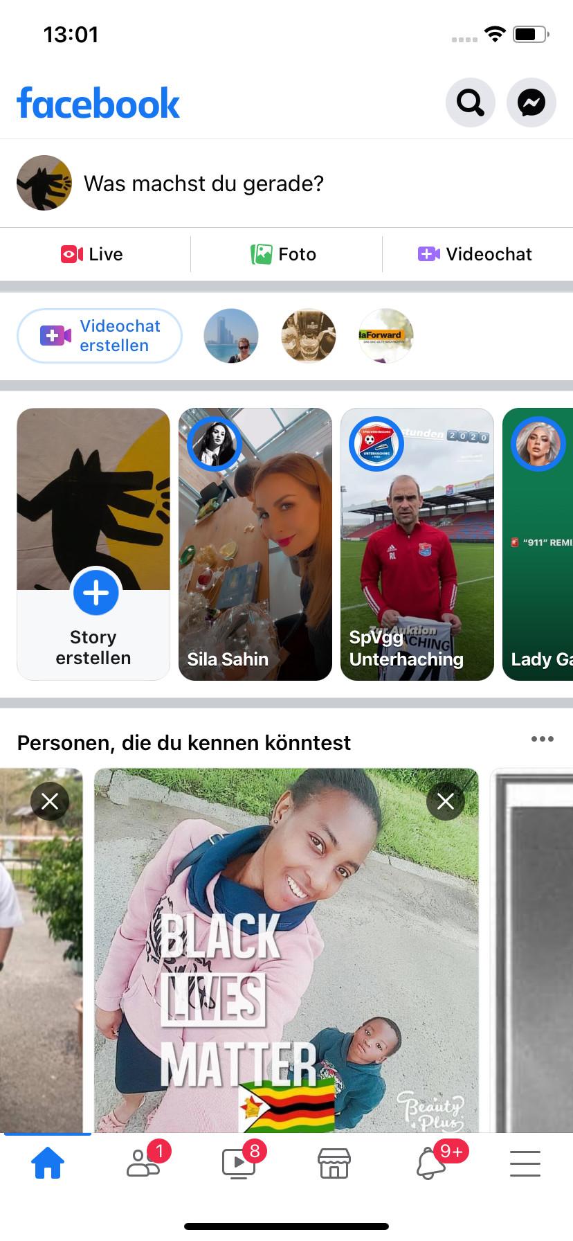 Screenshot 1 - Facebook (App für iPhone & iPad)