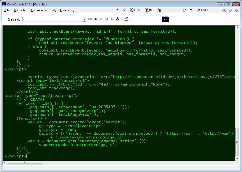 Screenshot 1 - ColorConsole