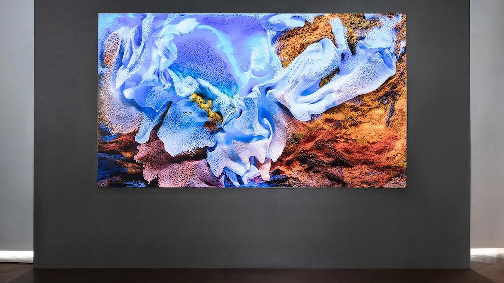 Micro-LED-TV: Samsung bringt Fernseher mit 110 Zoll und neuer Bildschirmtechnik Der 110 Zoll große Micro-LED-Fernseher von Samsung kommt praktisch ohne sichtbaren Rahmen aus, das Verhältnis aus Bild und Rahmen beträgt laut Hersteller 99,99 Prozent.