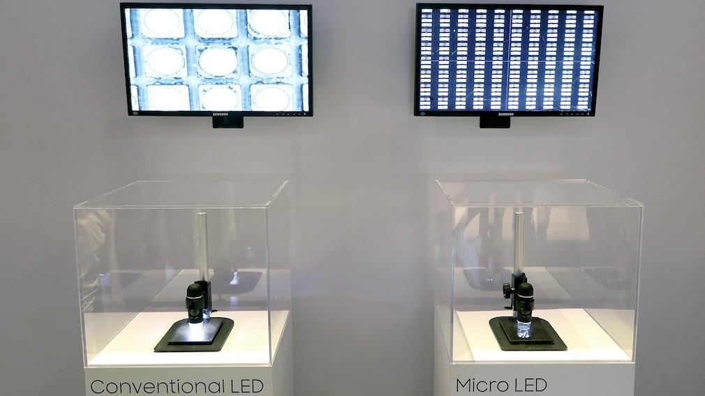 Micro-LED-Technik unterm Mikroskop