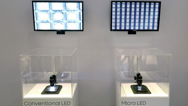 Micro-LED-Technik unterm Mikroskop©COMPUTER BILD