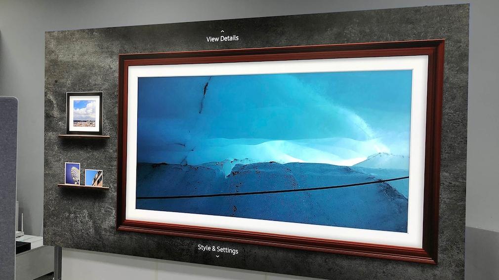 Samsung Micro-LED-Fernseher im Ambient Modus