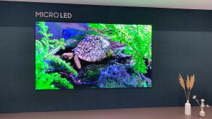 Der Samsung Micro LED TV ist ganze 2,40 Meter breit und enorm brillant.©COMPUTER BILD