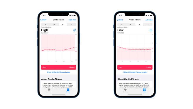 Kardiofitness in iOS-Health-App©Apple
