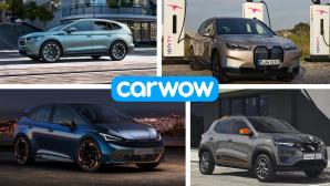 Elektroautos 2021: Diese E-Autos laufen dieses Jahr vom Band Das Angebot an Elektroautos wird 2021 erneut deutlich erweitert.©Carwow, BMW, Skoda, Cupra, Dacia