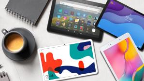 Tablets©iStock.com/Alinakho, Huawei, Samsung, Lenovo, Amazon