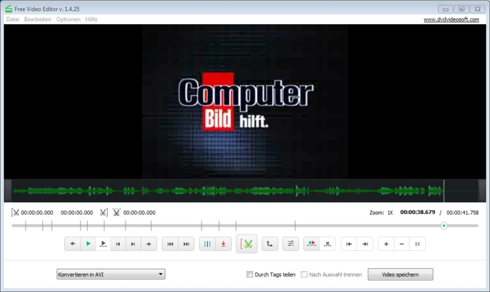Screenshot 1 - Free Video Editor