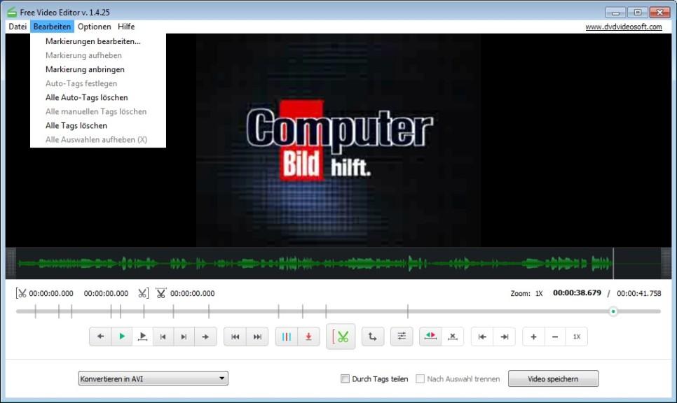 Free Video Editor 1.4.54.606 - Download - COMPUTER BILD
