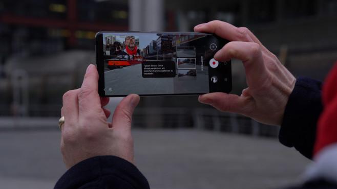 Galaxy S21: Vlogger-Ansicht©COMPUTER BILD