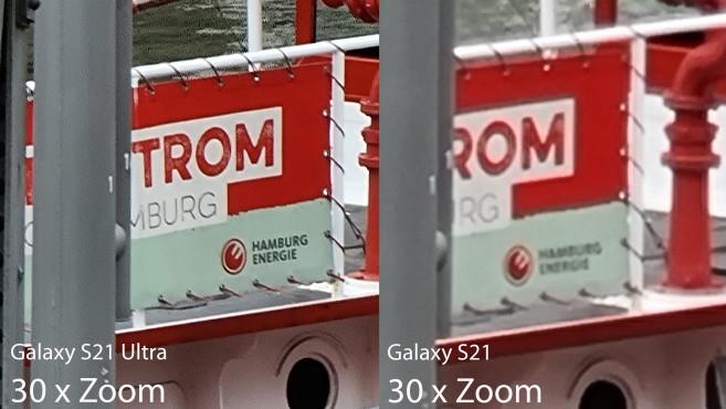 Zoom-Vergleich S21 Ultra und S21©COMPUTER BILD