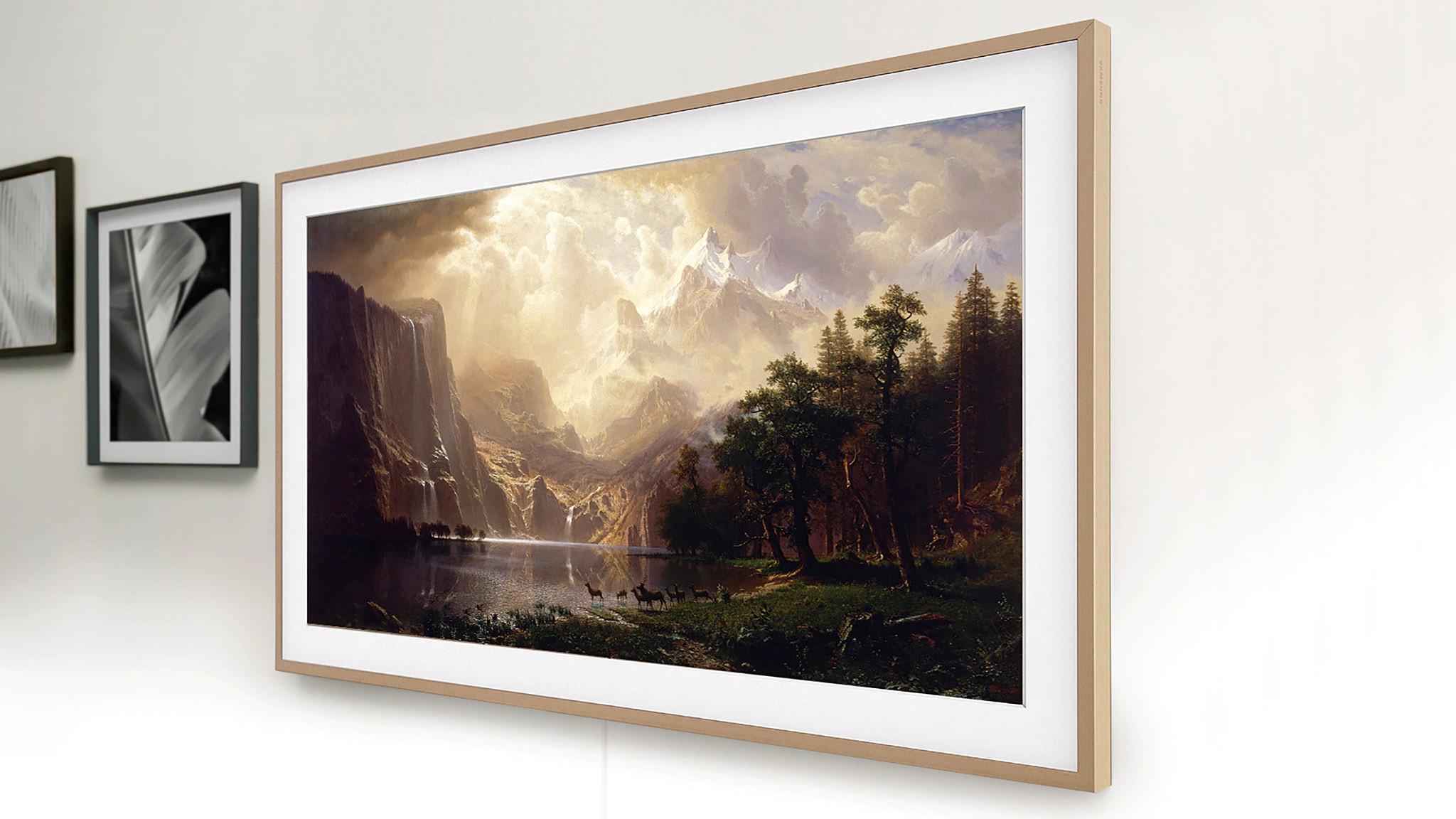 Samsung The Frame: Im Test überzeugte der Fernseher mit guten Farben, sattem Ton und umfangreicher Ausstattung.©Samsung