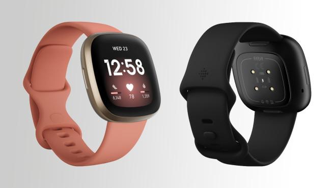Fitbit Versa 3 Farben©Fitbit, Montage: COMPUTER BILD