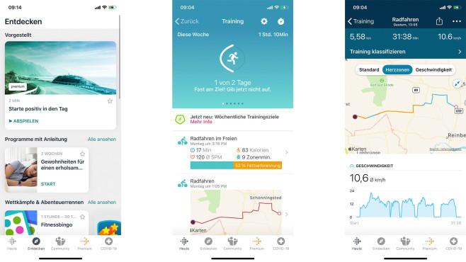 Fitbit Versa 3 Trainingsanalyse©Screenshot Fitbit-App
