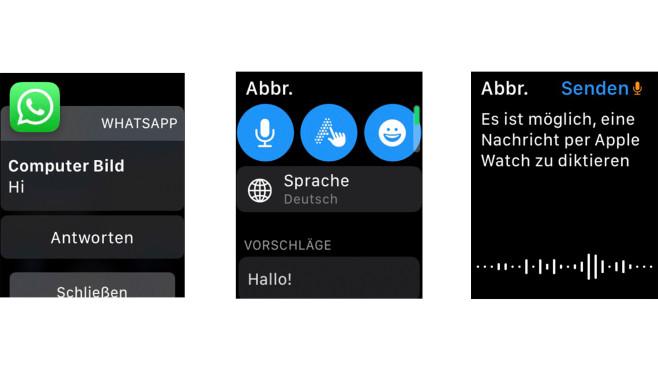 Apple Watch WhatsApp©Screenshot: Apple Watch