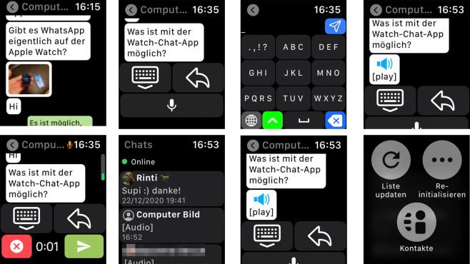 Watch Chat auf der Apple Watch©Screenshot Watch Chat