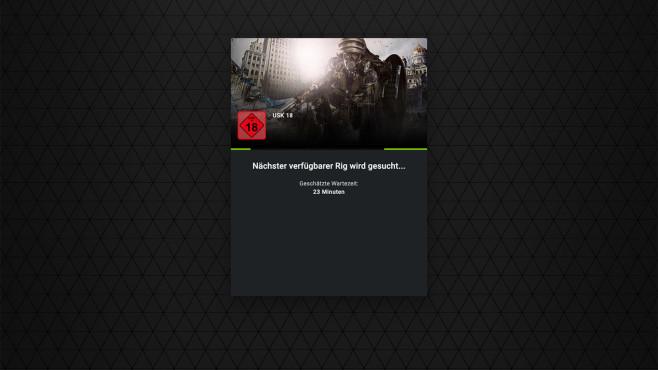 Cloud-Gaming-Dienste im Test: GeForce Now Wartezeit©Nvidia