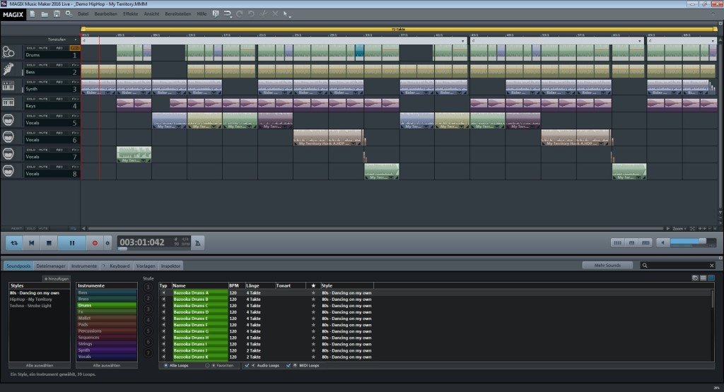 Screenshot 1 - Magix Music Maker Live